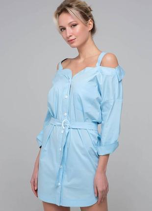 Платье-сарафан с открытыми плечами
