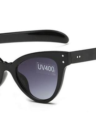 Уценка! солнцезащитные женские очки новинка массивные лисички кошечки линзы градиент