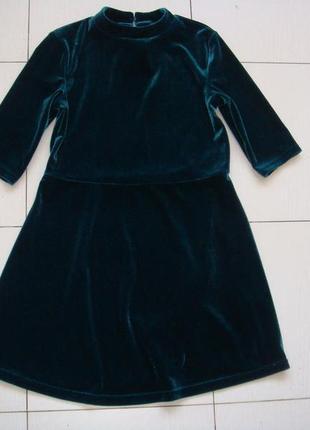 Бархатное платье 8лет