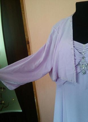 Красивое вечернее нарядное платье в пол большого размера 18/227 фото