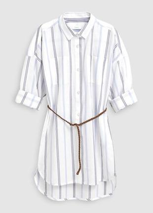 Шикарная трендовая блуза рубашка в полоску с пояском от next, p. 122