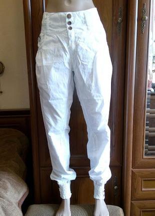 24b05741587 Белые джинсы брюки багги карго бойфренды с манжетами резинками zara trf  trafaluc