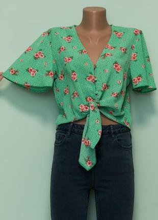 Большой выбор блуз - актуальная красивая блуза, рубашка с рукавами воланами