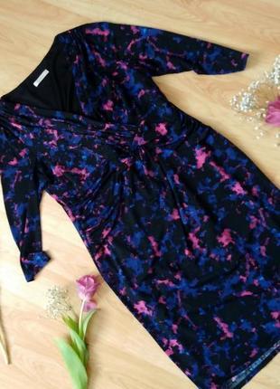 Красивенное платье футляр  в цветы