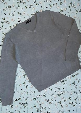Базовый фирменный серый свитер средней плотности, размер 48 - 50