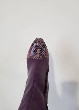 Кожаные ботинки с модным носком - рептилия.2