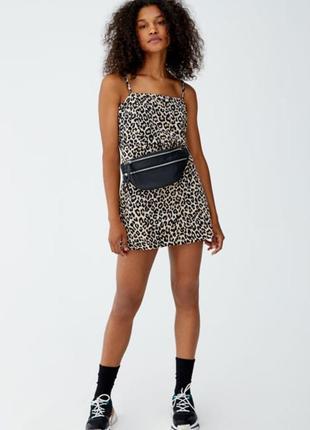 Платье платице сарафан хит тренд принт леопард