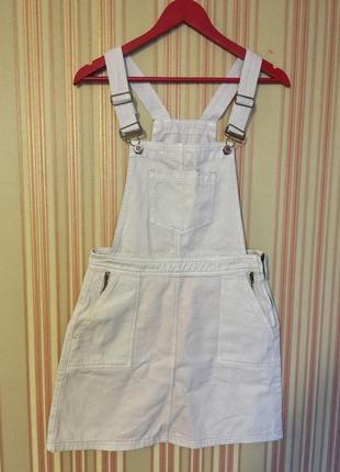 Джинсовый комбинезон юбка f&f