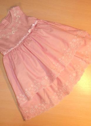 Нарядное праздничное платье, сарафан george 3-6 мес, 62-68 см, оригинал