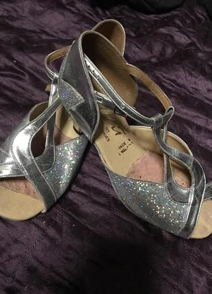 Туфли кожаные для бальных танцев 33