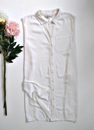 Легкая белая блуза рубашка