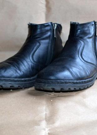 Кожаные ботинки, демисезонные