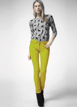 Желтые стрейчевые скинни