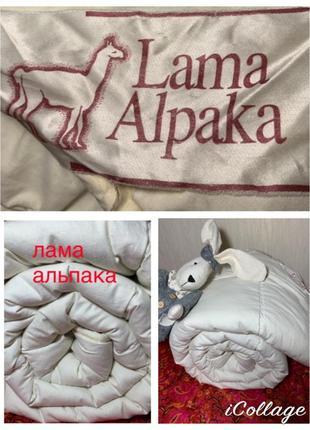 Шерстяное одеяло шерсть альпаки ламы / чехол хлопок германия