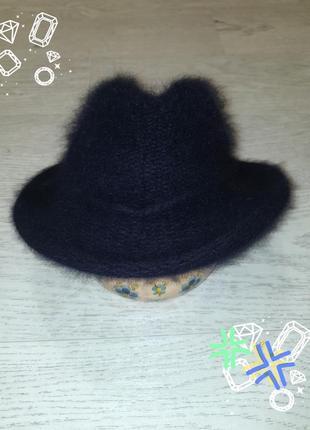 Теплая шляпа котелок трилби, шерсть, ангора