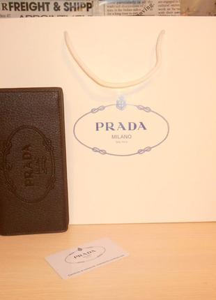 Мужской коричневый фирменный кошелек, портмоне, бумажник , кожа, италия