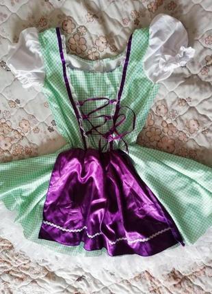 Карнавальное платье  золушки, баварки на 9-10лет