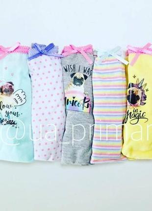 Детское белье примарк 7 шт упаковка для девочек primark