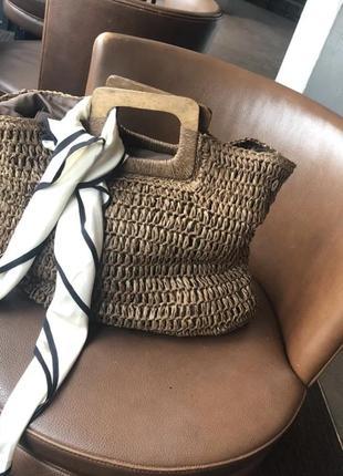 Сумка плетеная, сумка летняя, сумка бамбук солома