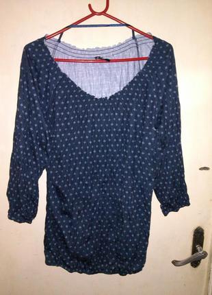 Приятная,стильная,трикотаж-жатка блузочка,можно приоткрывать плечи,14-18рр..colours of hte
