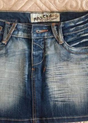 Молодежная джинсовая юбка