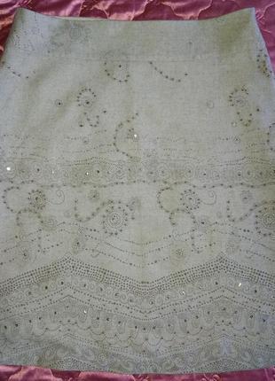 Теплая легкая юбка большого размера 18 (46)