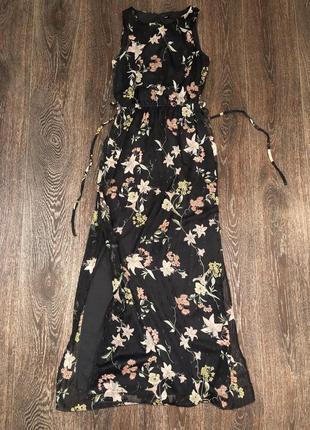 Платье в пол с цветочным принтом 🌺