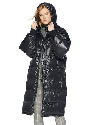 Длинное пуховое пальто-пуффер-кокон   от 7 for all mankind.размер м