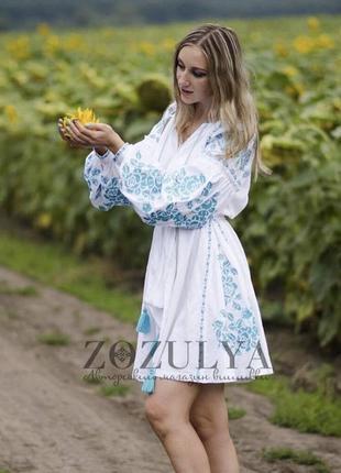 Вышитое платье вышиванка бохо