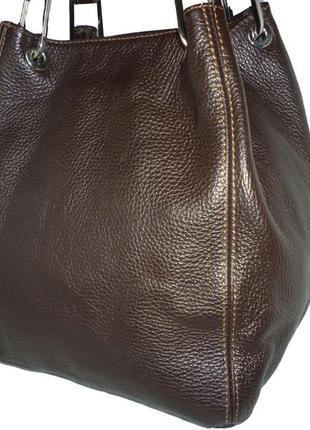 Стильная большая сумка натуральная кожа maxima италия