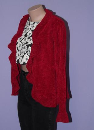 Велюровый кардиган красивого вишневого цвета2 фото