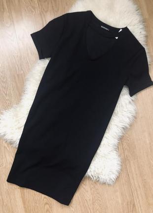 Платье свободного кроя чёрное
