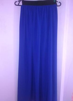 Макси юбка цвета електрик, универсального размера!