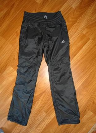 Спортивные зимние штаны adidas подкладка флис