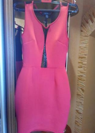 Платье нарядное красное amisu новое) р. 34/42/xs