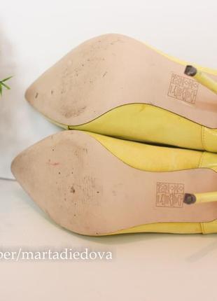 Кожаные замшевые туфли лодочки классические, бренд river island6 фото