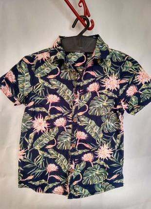 Рубашка на 2-3 года в цветочный принт primark