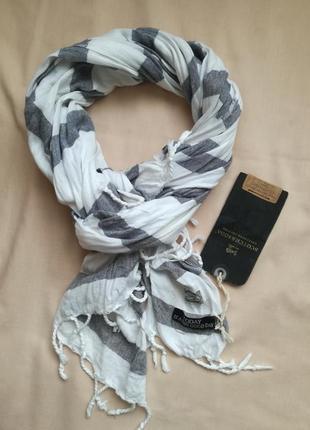 Шикарный летний шарф (унисекс) лен