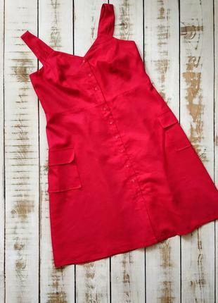1+1=3 🎀 розовое льняное платье ,сарафан tu
