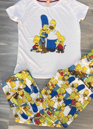Пижама женская simpsons одежда для дома разные рисунки