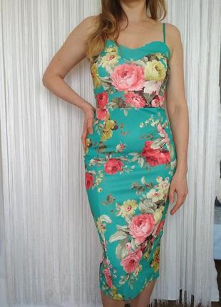 Платье футляр цветочное boohoo