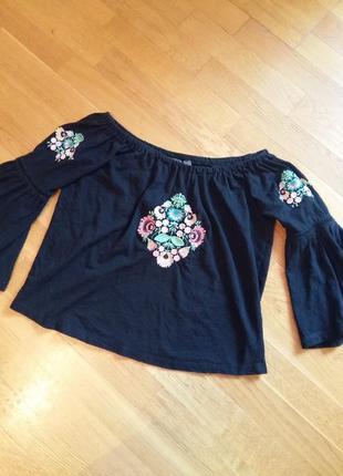 Красивая блуза вышиванка primark xs-s