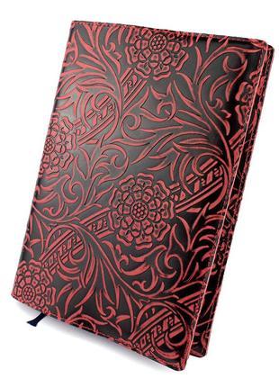 Кожаная обложка для ежедневника / блокнота ф. а5 амелия (бордовая)