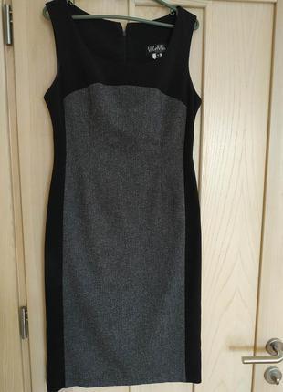 Классическое офисное платье сарафан