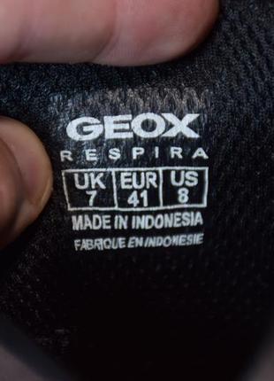 Туфли кроссовки geox respira. индонезия. оригинал. 41 р./26.5 см.8 фото