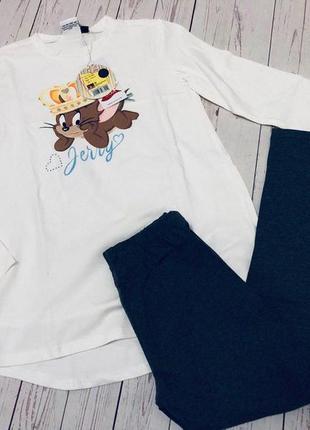 1. костюм для девочки туника лосины