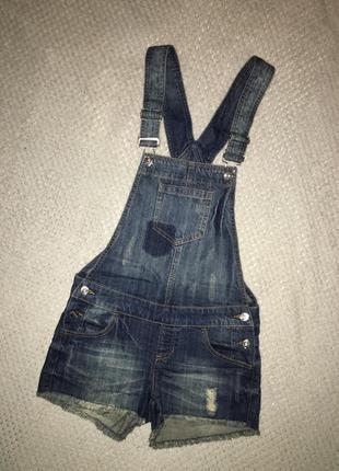 Джинсовый комбинезон джинсовые шорты oodji размер s 36