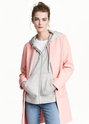 Супер цена !!!классическое пудровое пальто куртка жакет/пиджак h&m с длинным рукавом