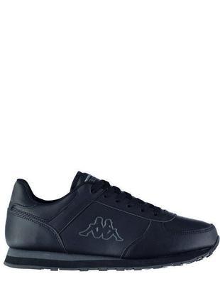 Чёрные кроссовки кожа kappa