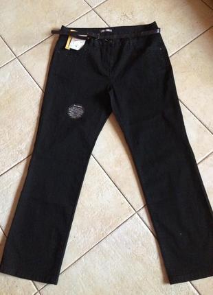 Высокая посадка, большой размер, классические прямые джинсы !
